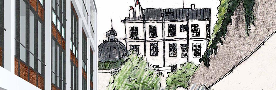Vue d'architecte de la Villa Louis Pasteur